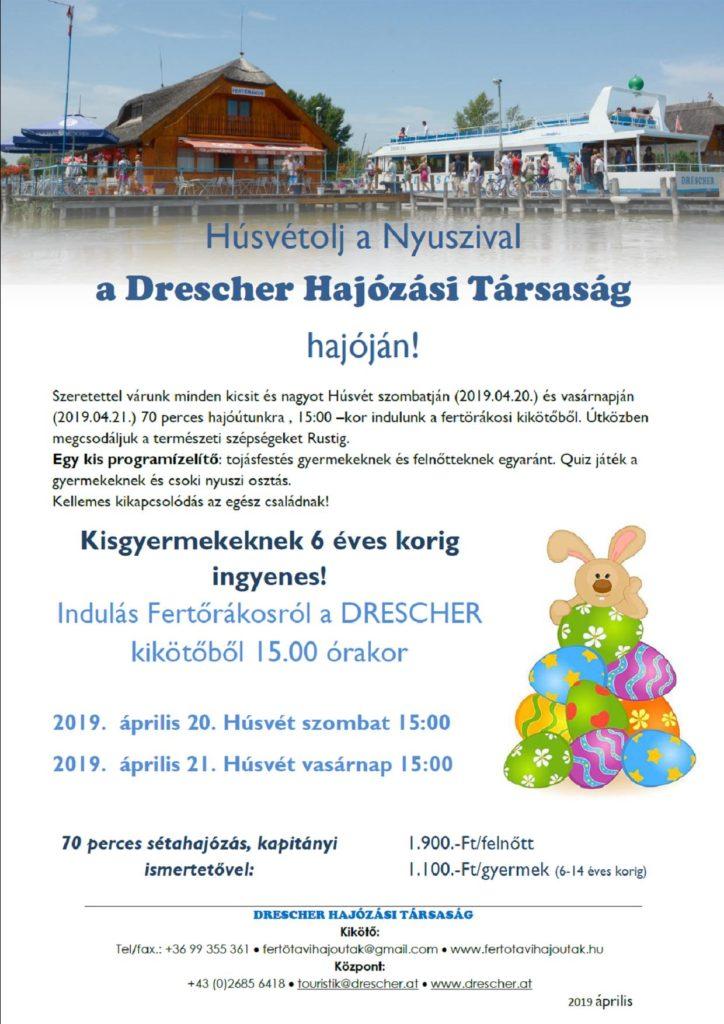 Husvet 2019 Drescher Fertö-to Fertörákos